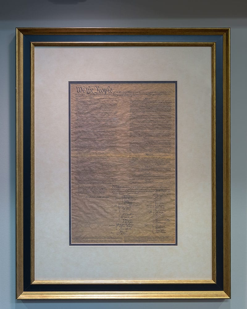 Constitution for the United States, framed